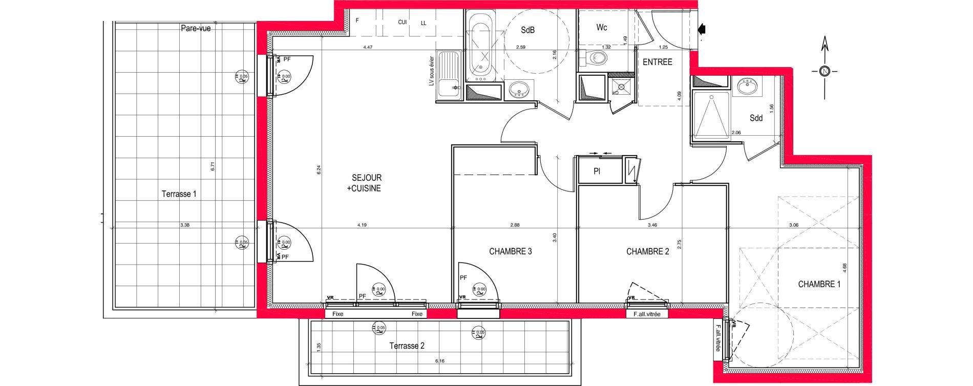 Appartement T4 de 84,85 m2 à Saint-Jean-De-Braye Eclo