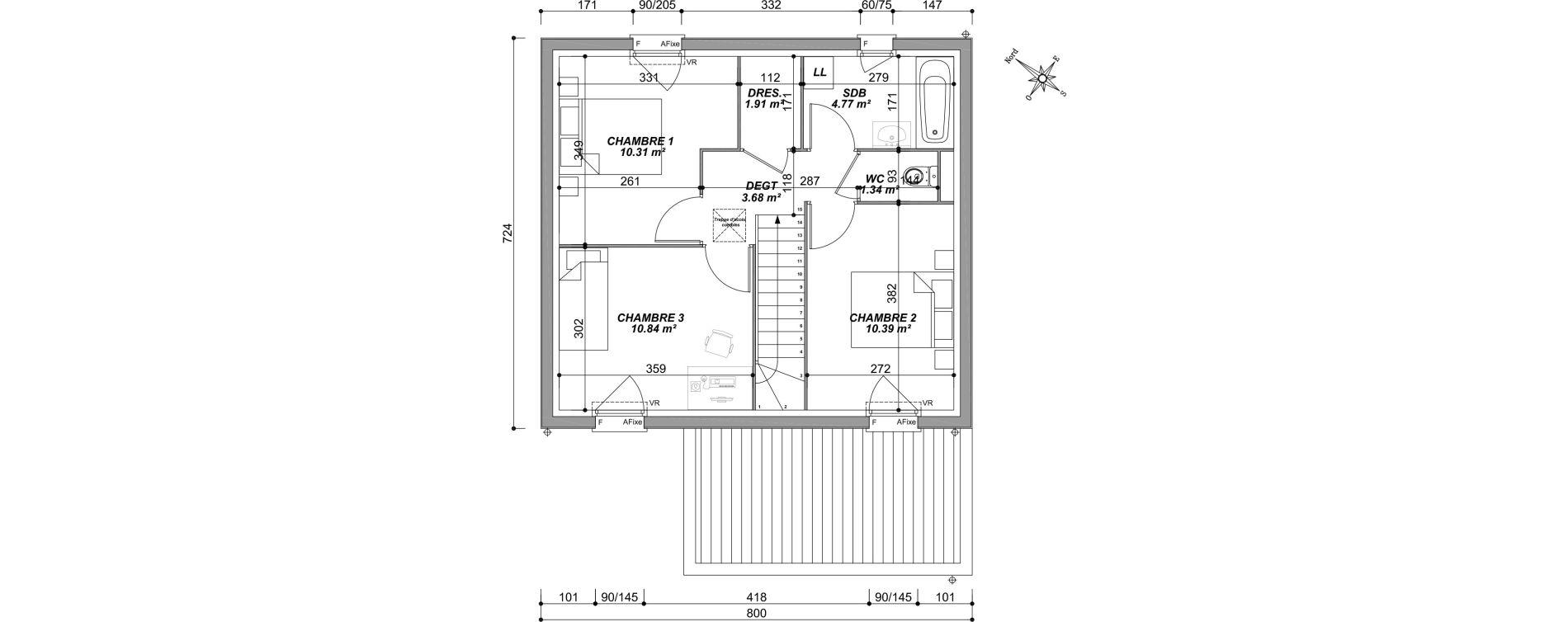 Maison T4 de 85,14 m2 à Saran Centre