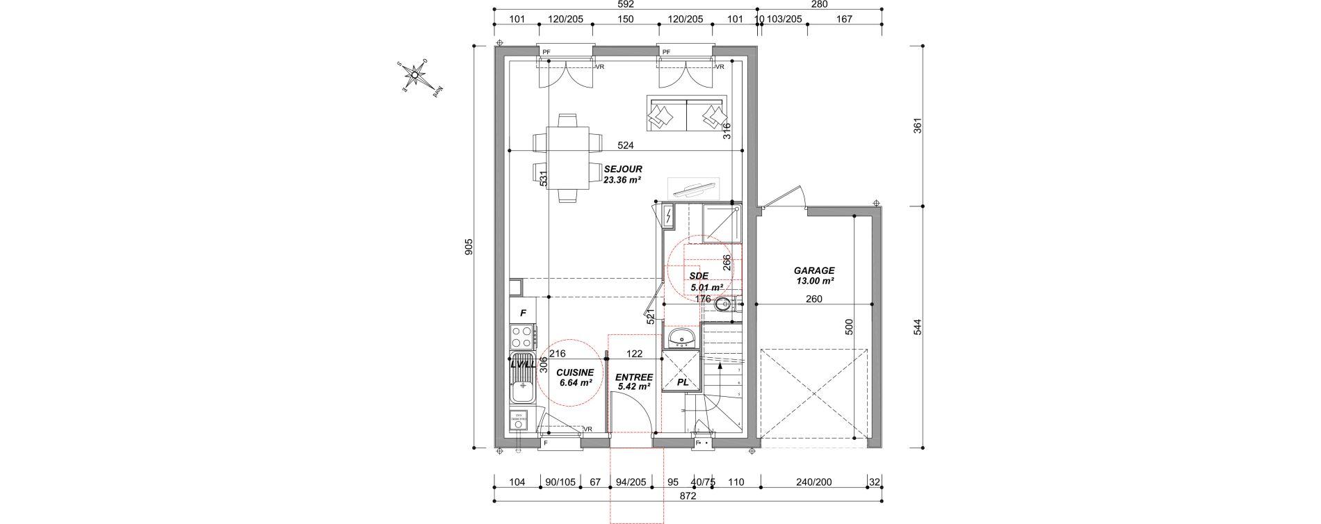Maison T4 de 80,06 m2 à Saran Centre