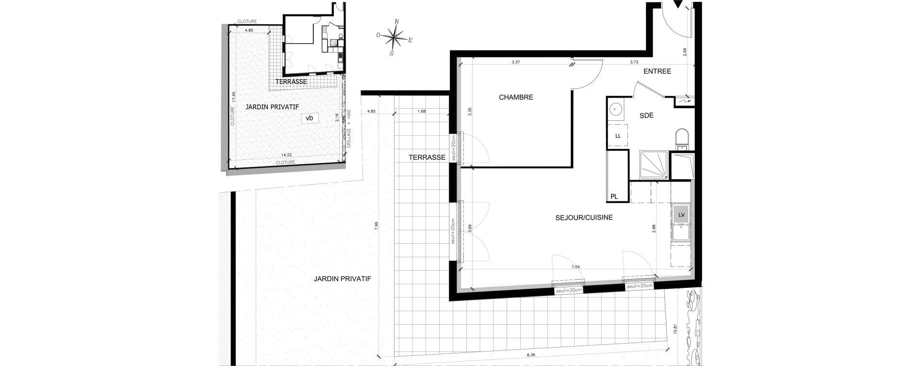Appartement T2 de 49,14 m2 à Saran Chatonnerie