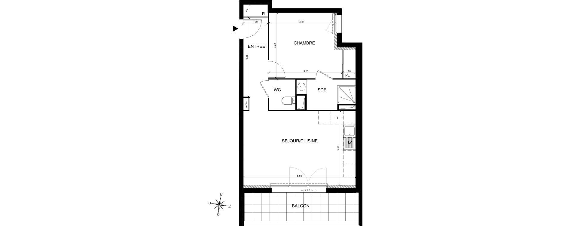 Appartement T2 de 43,87 m2 à Saran Chatonnerie