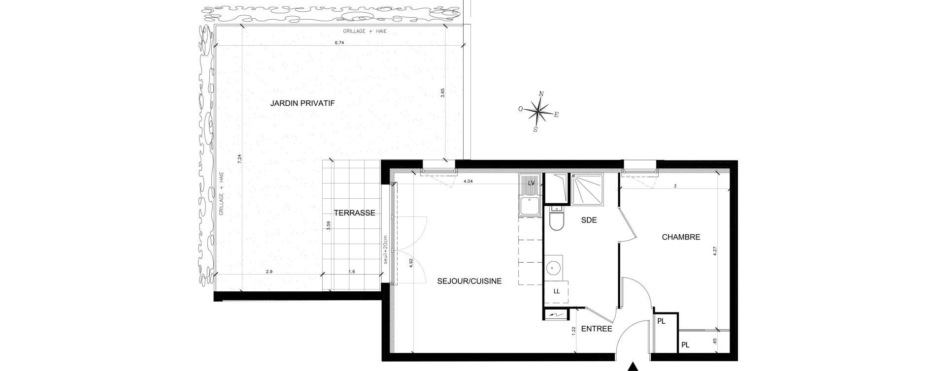 Appartement T2 de 43,53 m2 à Saran Chatonnerie