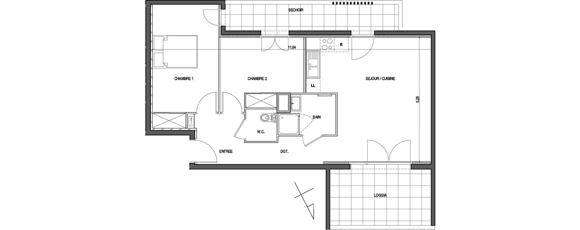 Appartement T3 de 62,35 m2 à Ajaccio Centre