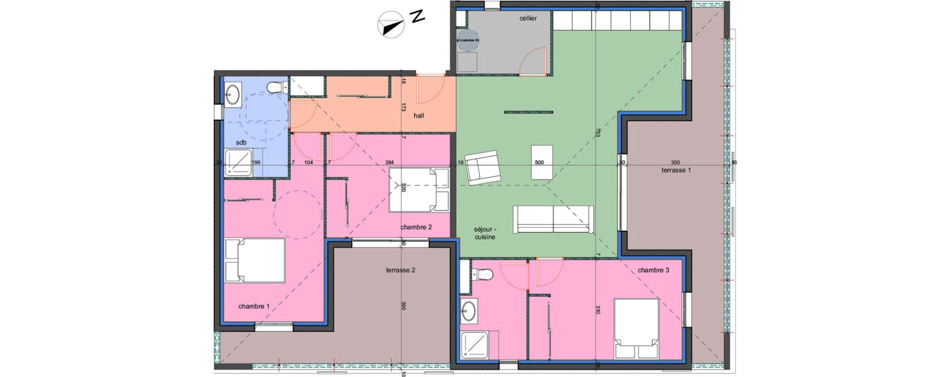 Appartement T4 de 106,10 m2 à Porto-Vecchio Centre