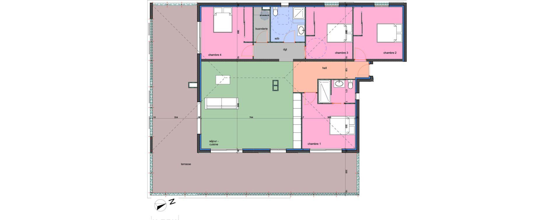 Appartement T5 de 130,70 m2 à Porto-Vecchio Centre