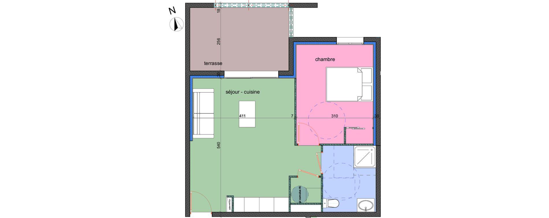 Appartement T2 de 43,00 m2 à Porto-Vecchio Centre
