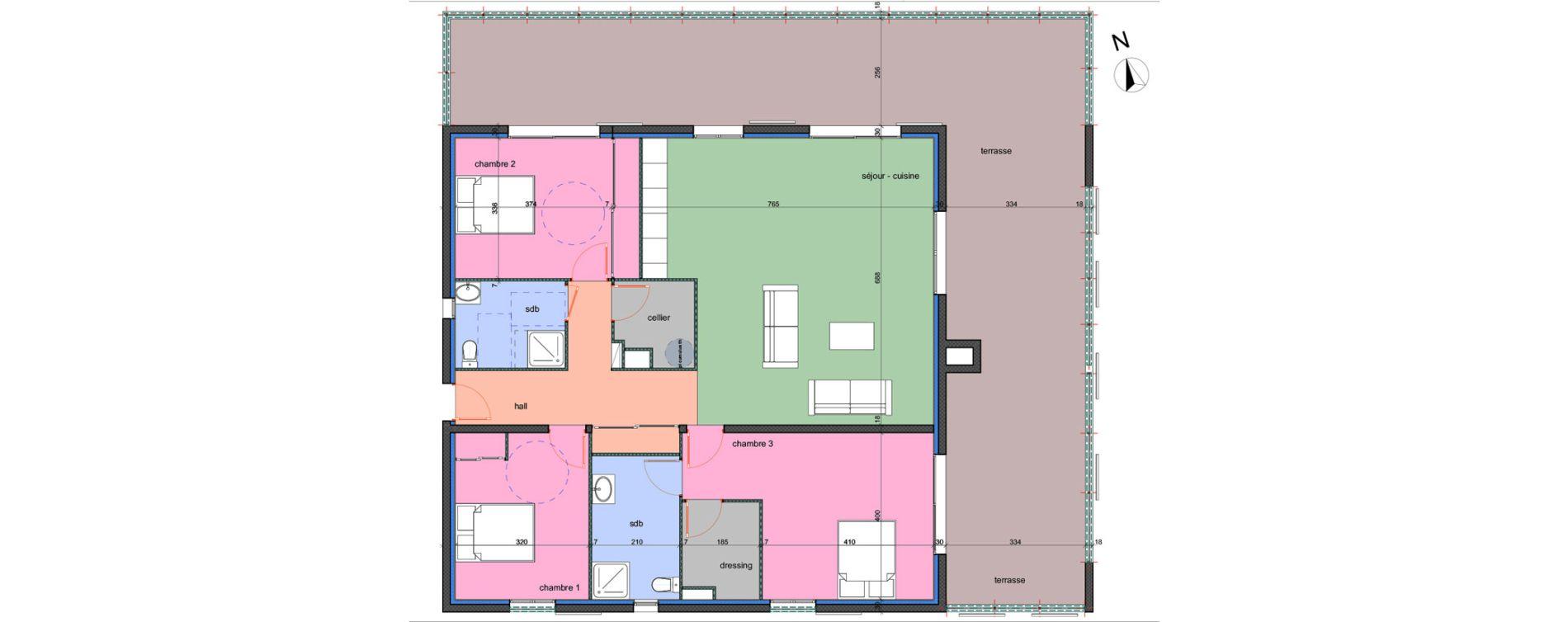 Appartement T4 de 122,80 m2 à Porto-Vecchio Centre