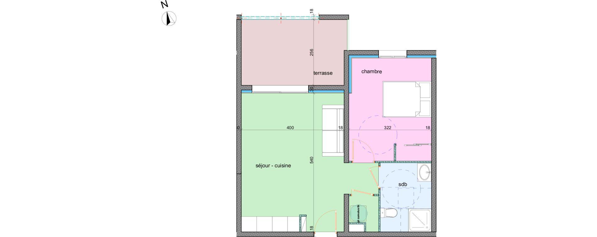 Appartement T2 de 42,70 m2 à Porto-Vecchio Centre