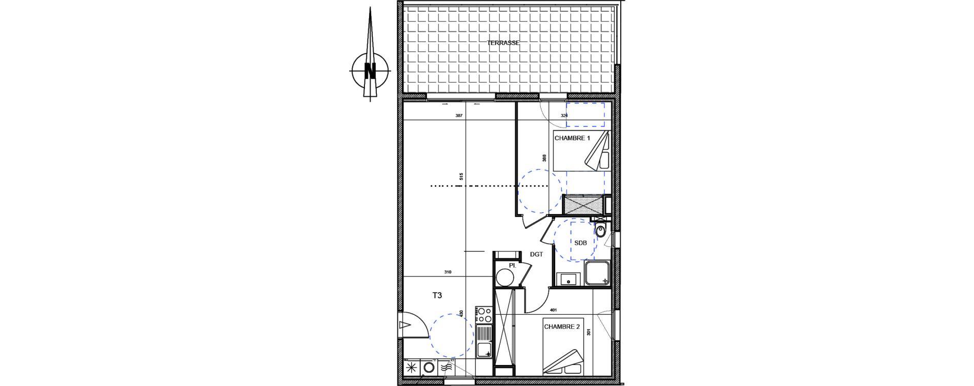 Appartement T3 de 65,33 m2 à Propriano Centre