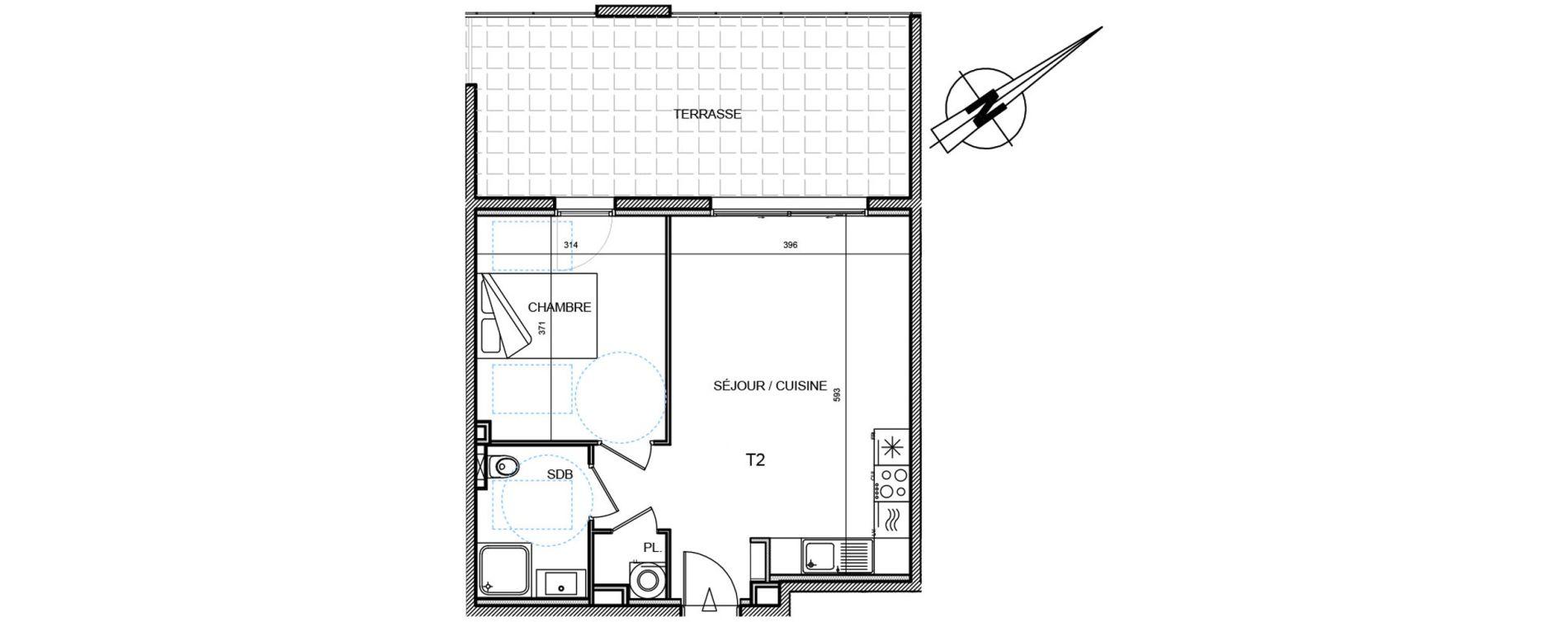 Appartement T3 de 42,67 m2 à Propriano Centre