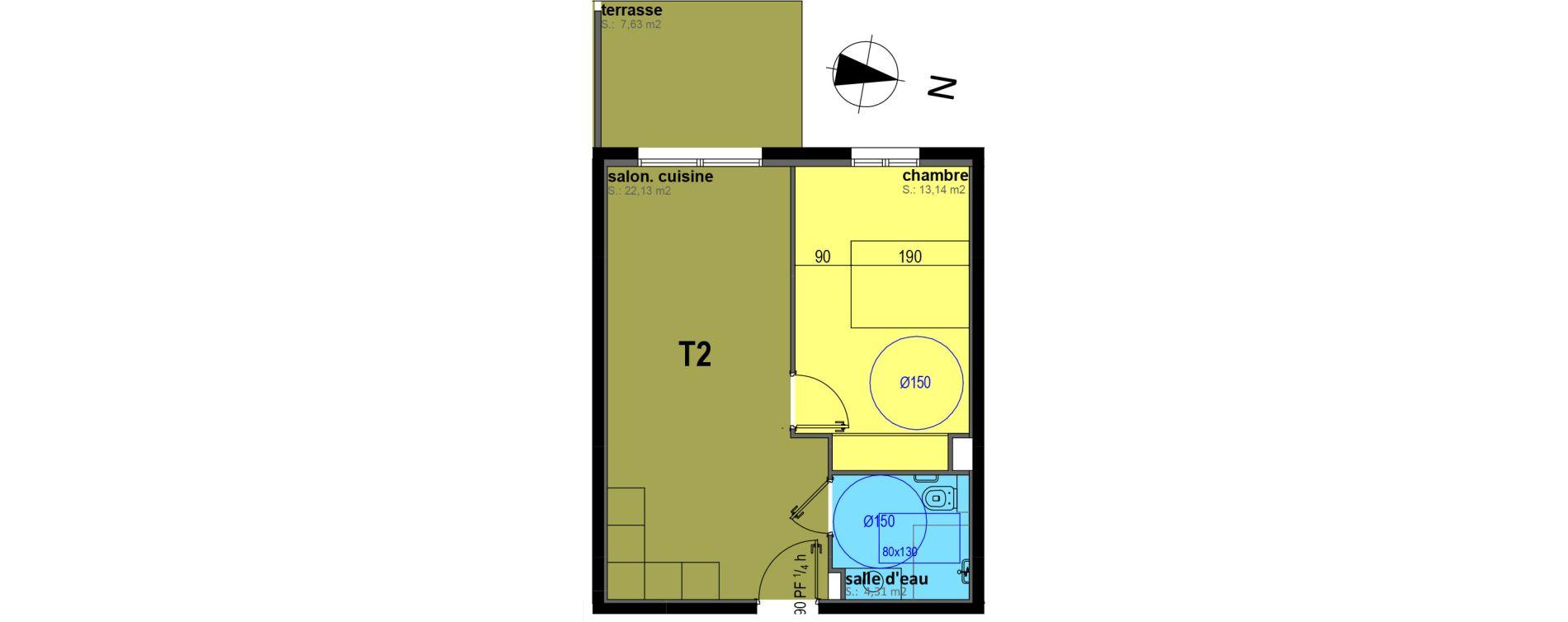 Appartement T2 meublé de 39,58 m2 à Sari-Solenzara Centre