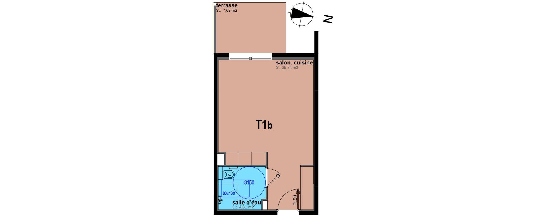 Appartement T1 bis meublé de 30,05 m2 à Sari-Solenzara Centre