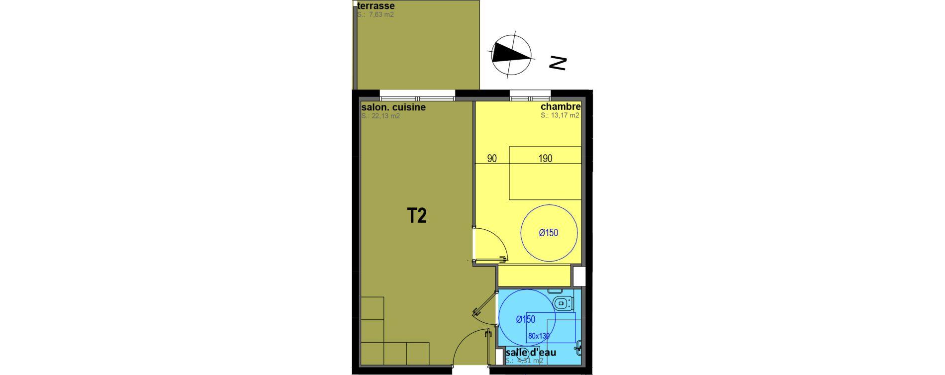 Appartement T2 meublé de 39,61 m2 à Sari-Solenzara Centre