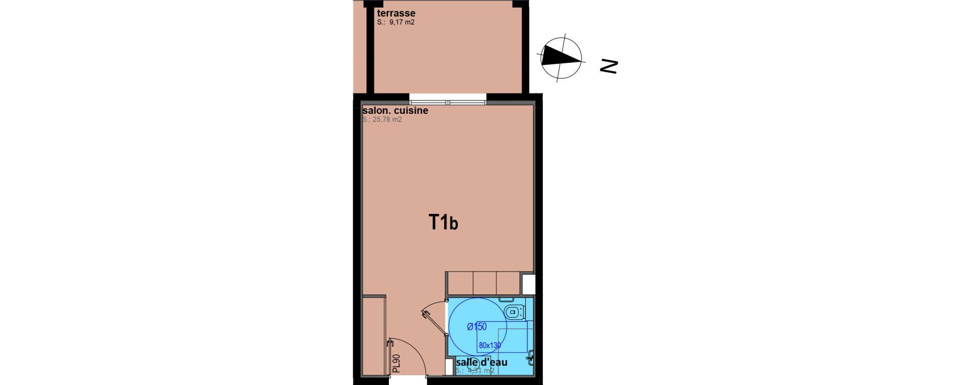 Appartement T1 bis meublé de 30,09 m2 à Sari-Solenzara Centre