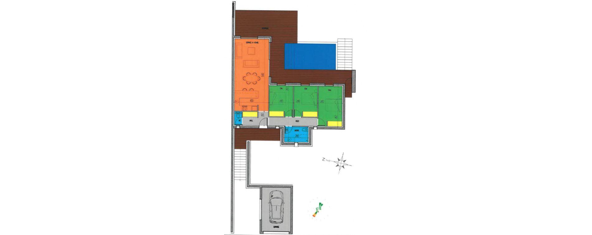 Villa T4 de 83,62 m2 à Zonza Centre