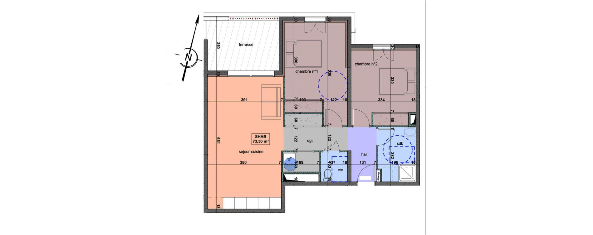 Appartement T3 de 73,30 m2 à Bastia Centre