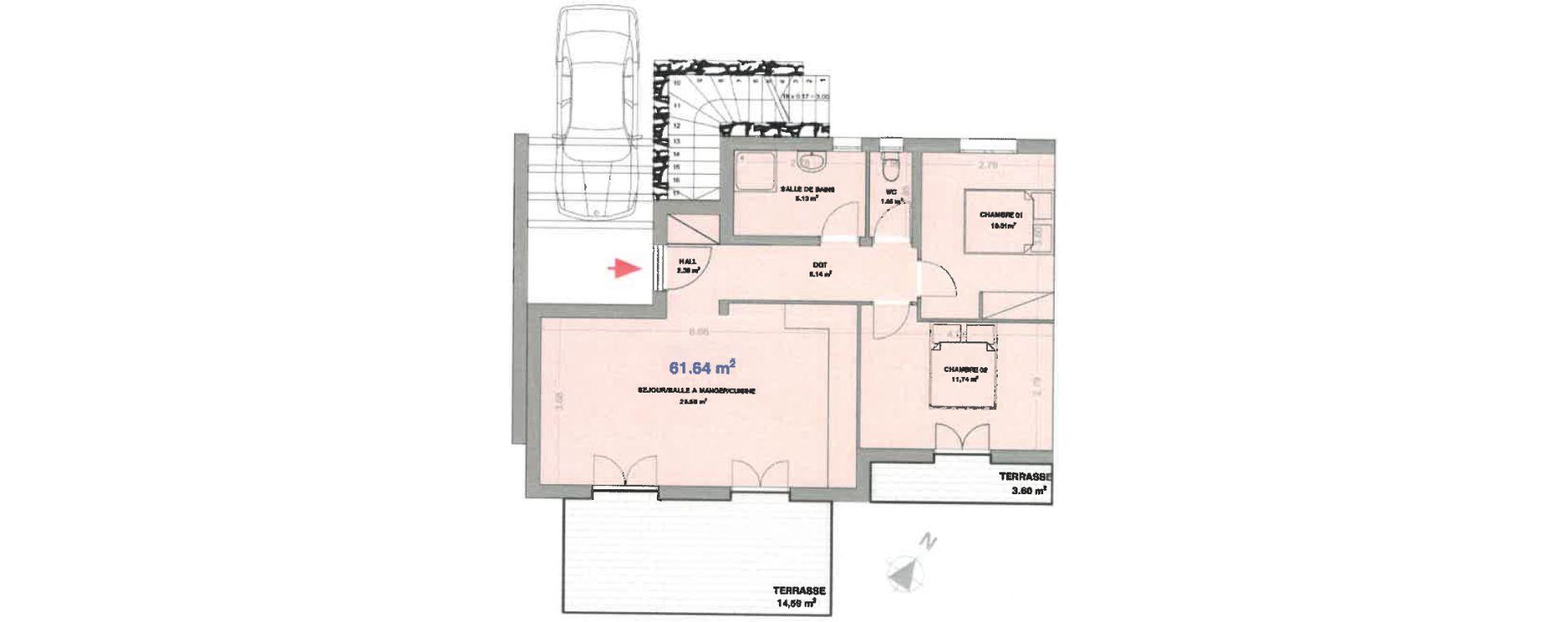 Appartement T3 de 61,64 m2 à Calenzana Centre