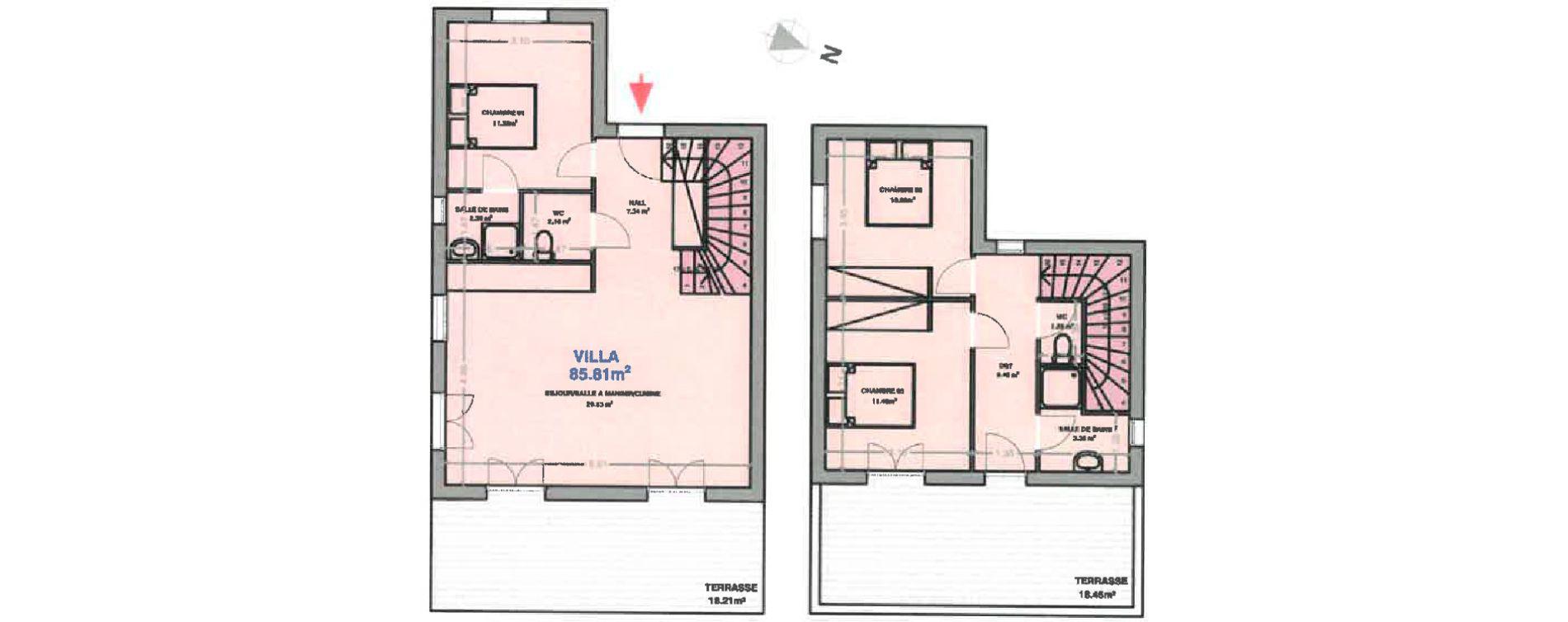 Villa T4 de 85,81 m2 à Calenzana Centre