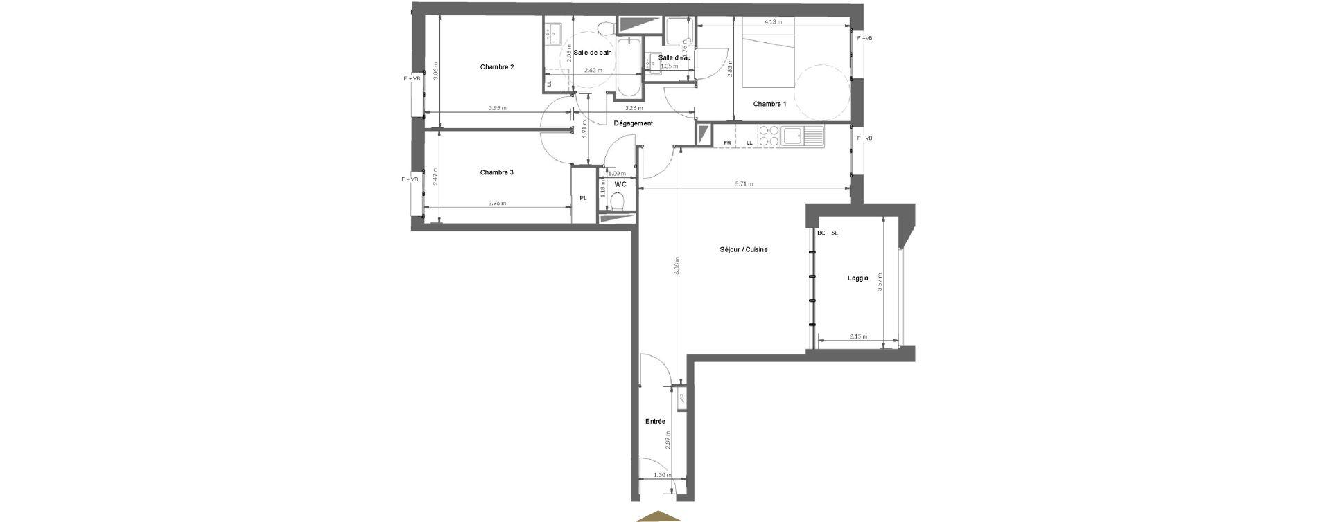 Appartement T4 de 80,96 m2 à Calvi Centre