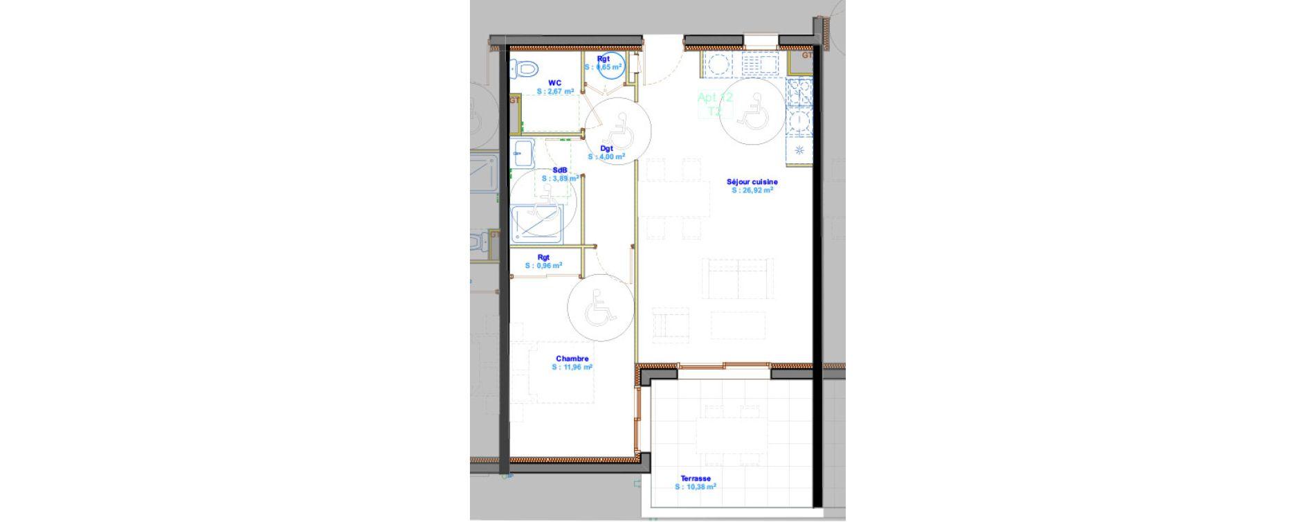 Appartement T2 de 51,05 m2 à Calvi Centre
