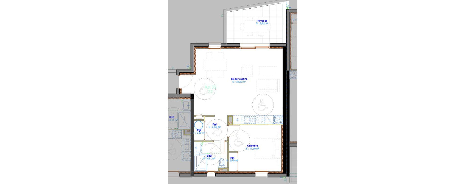 Appartement T2 de 52,75 m2 à Calvi Centre