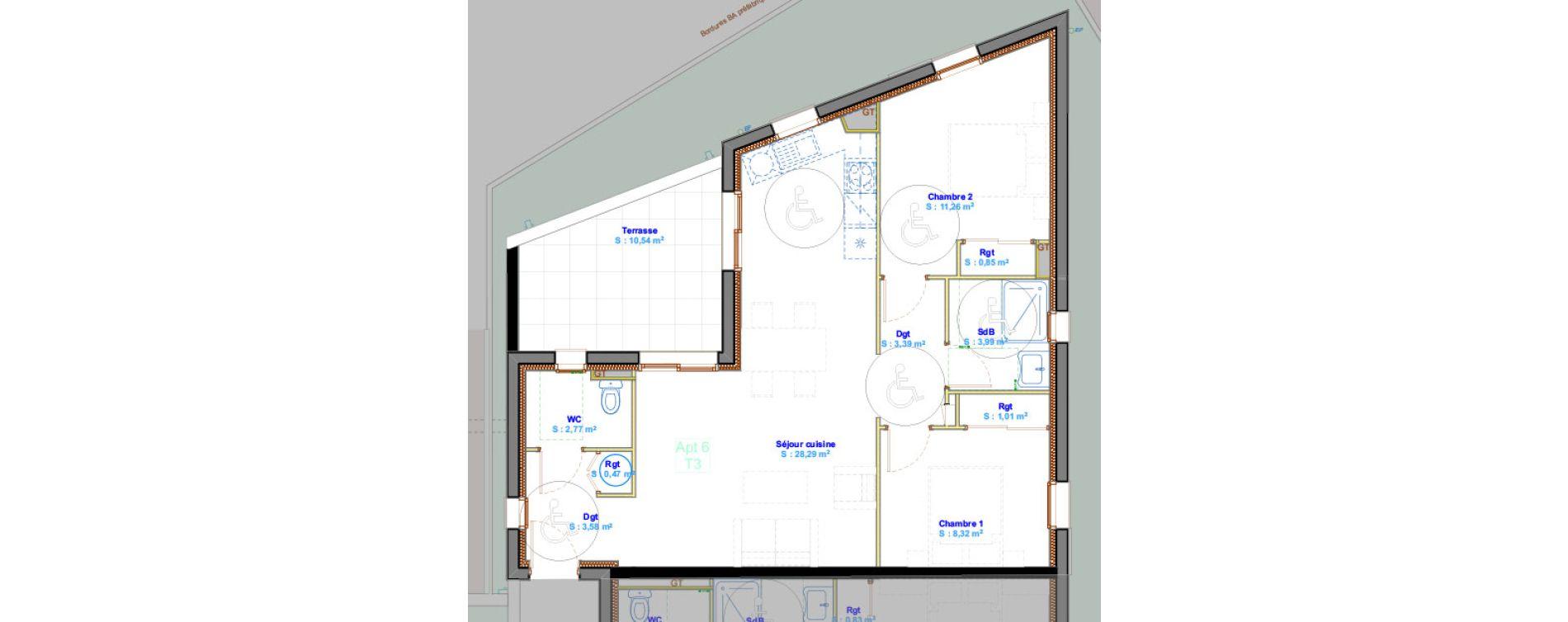 Appartement T3 de 63,93 m2 à Calvi Centre