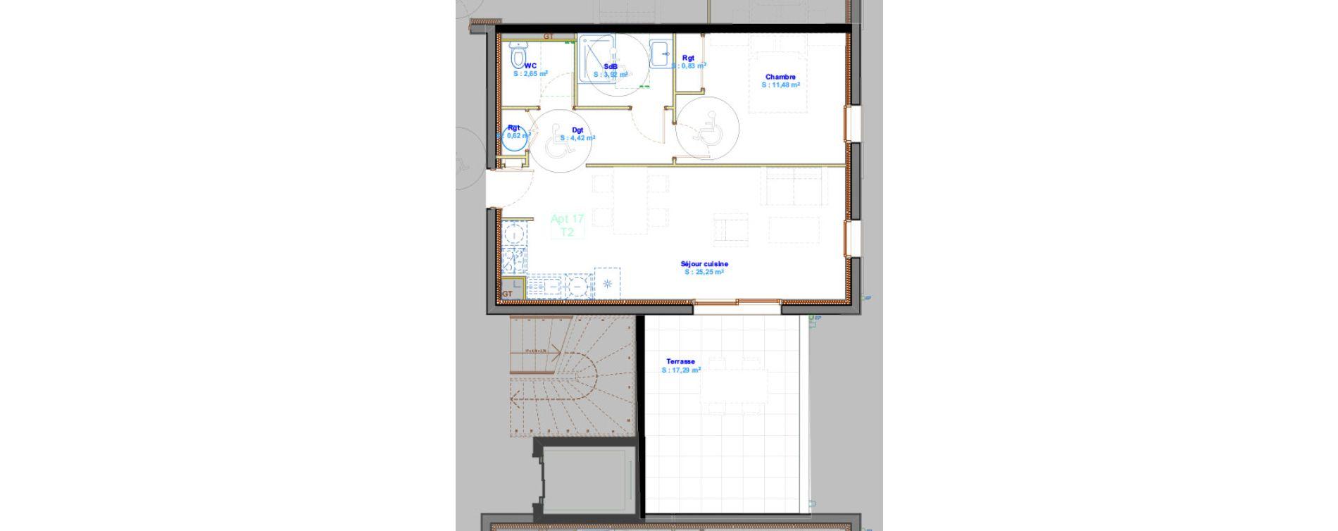 Appartement T2 de 49,17 m2 à Calvi Centre