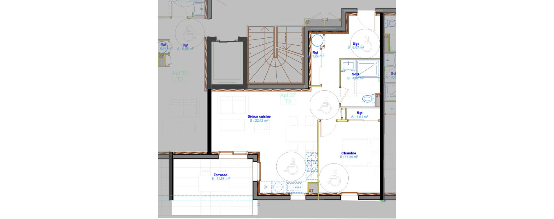 Appartement T2 de 49,35 m2 à Calvi Centre