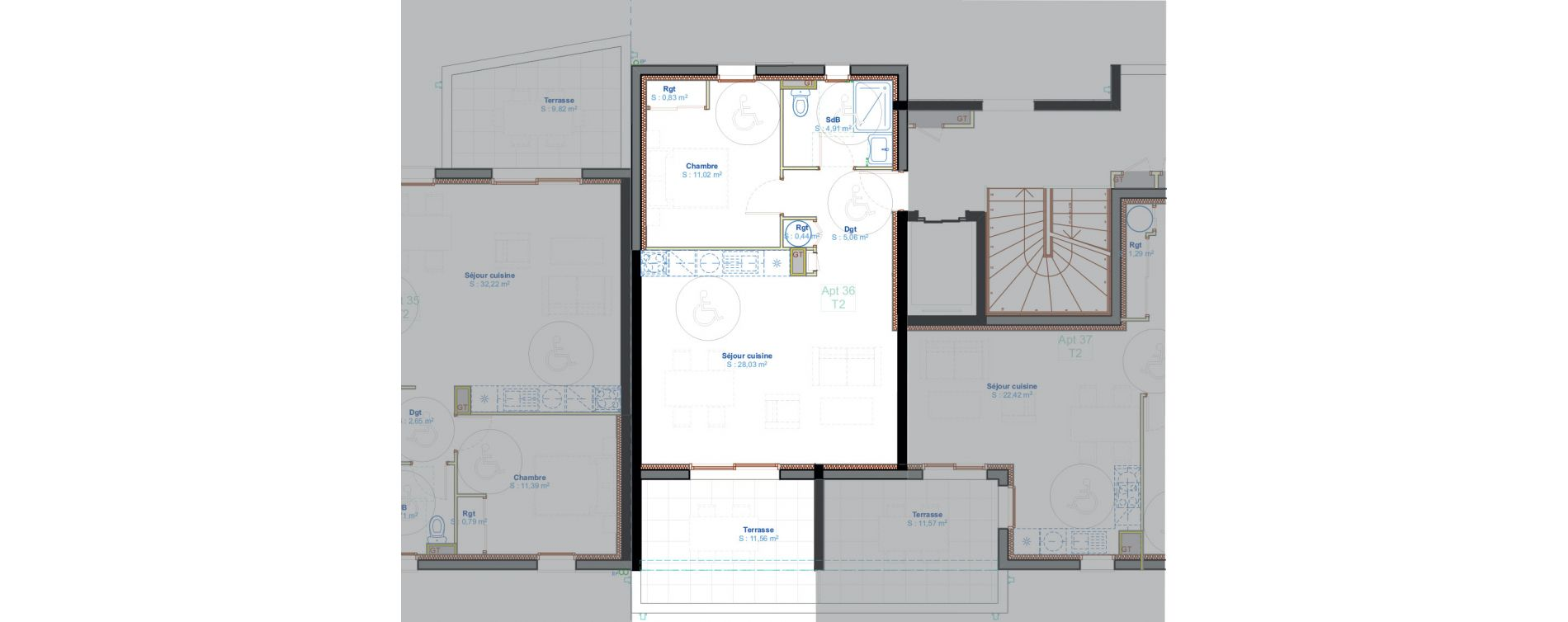 Appartement T2 de 50,29 m2 à Calvi Centre