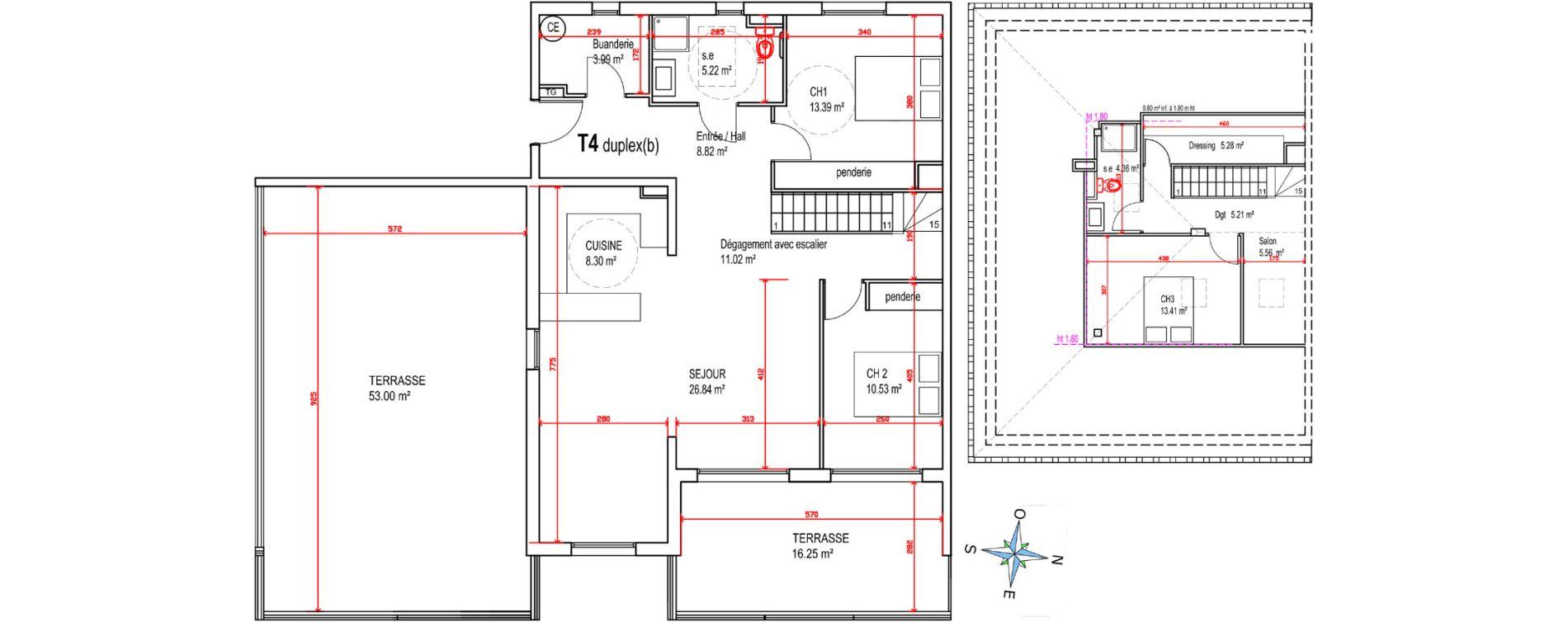 Duplex T4 de 121,93 m2 à Castellare-Di-Casinca Centre