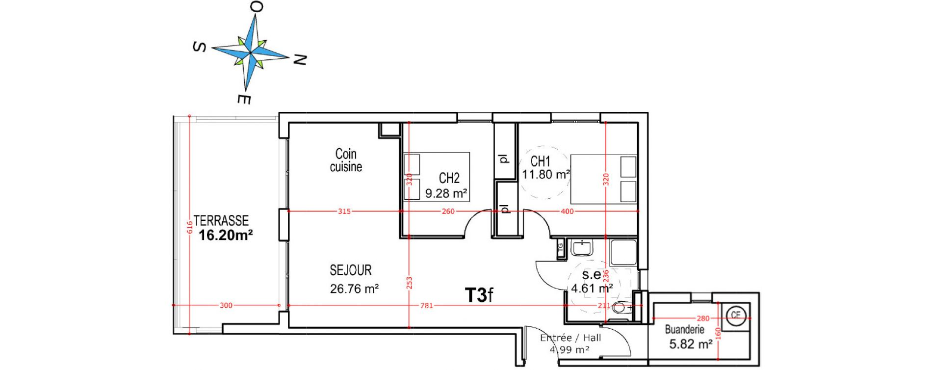 Appartement T3 de 63,26 m2 à Castellare-Di-Casinca Centre