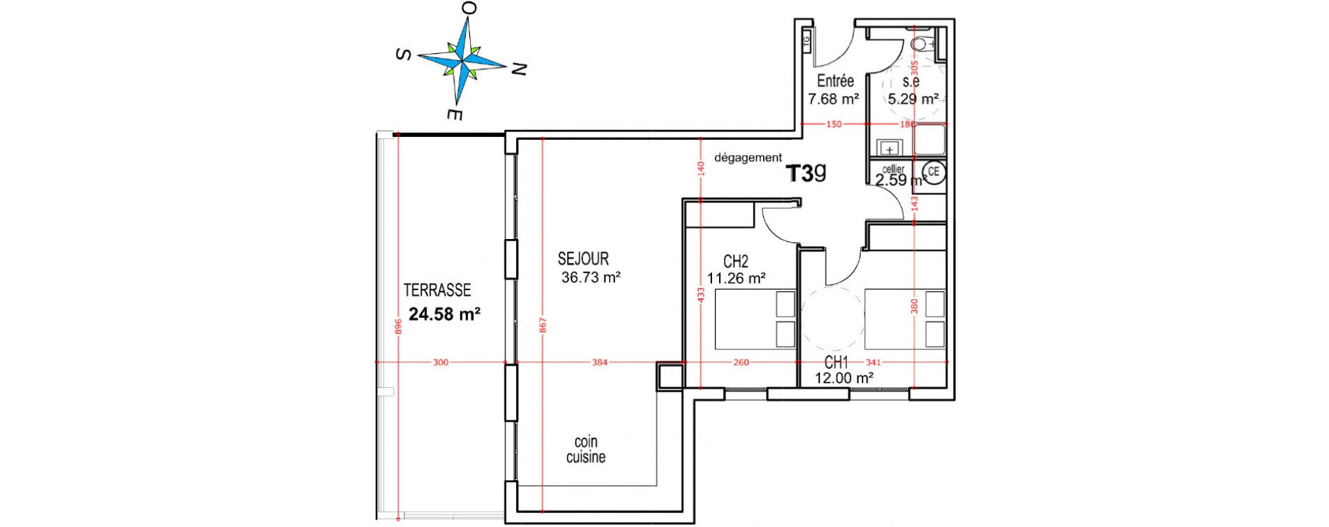 Appartement T3 de 75,55 m2 à Castellare-Di-Casinca Centre