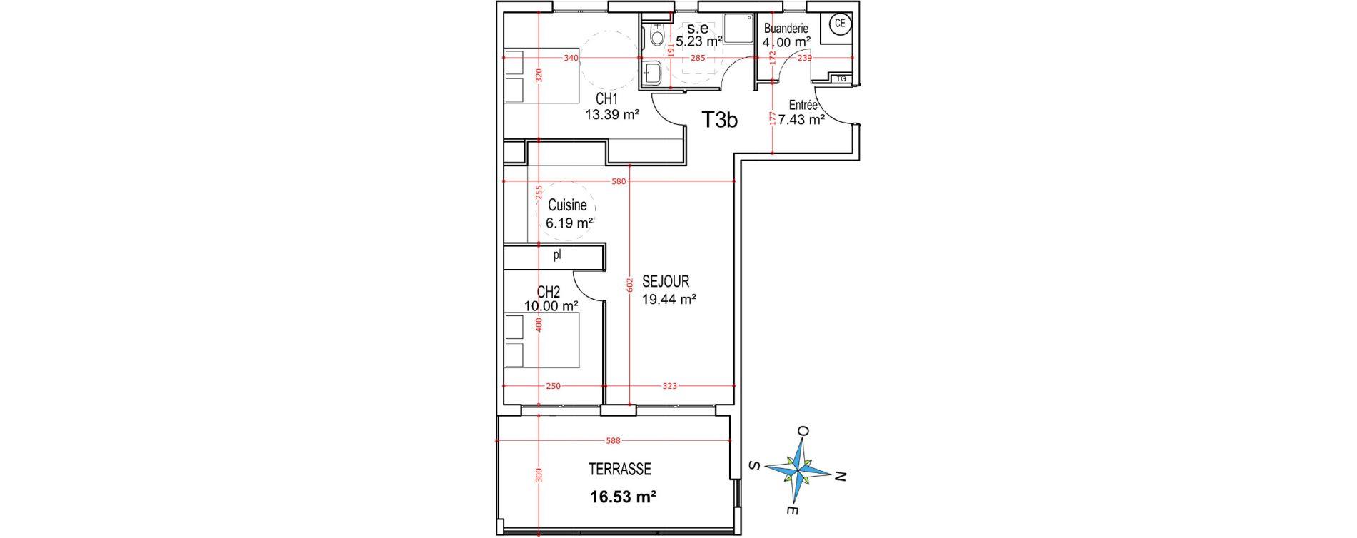 Appartement T3 de 65,68 m2 à Castellare-Di-Casinca Centre