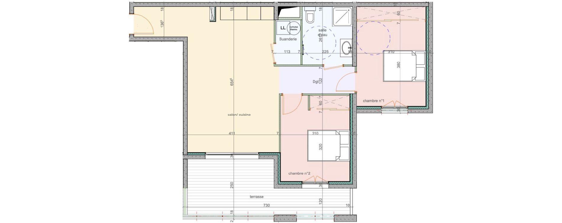 Appartement T3 de 67,90 m2 à Lucciana Centre