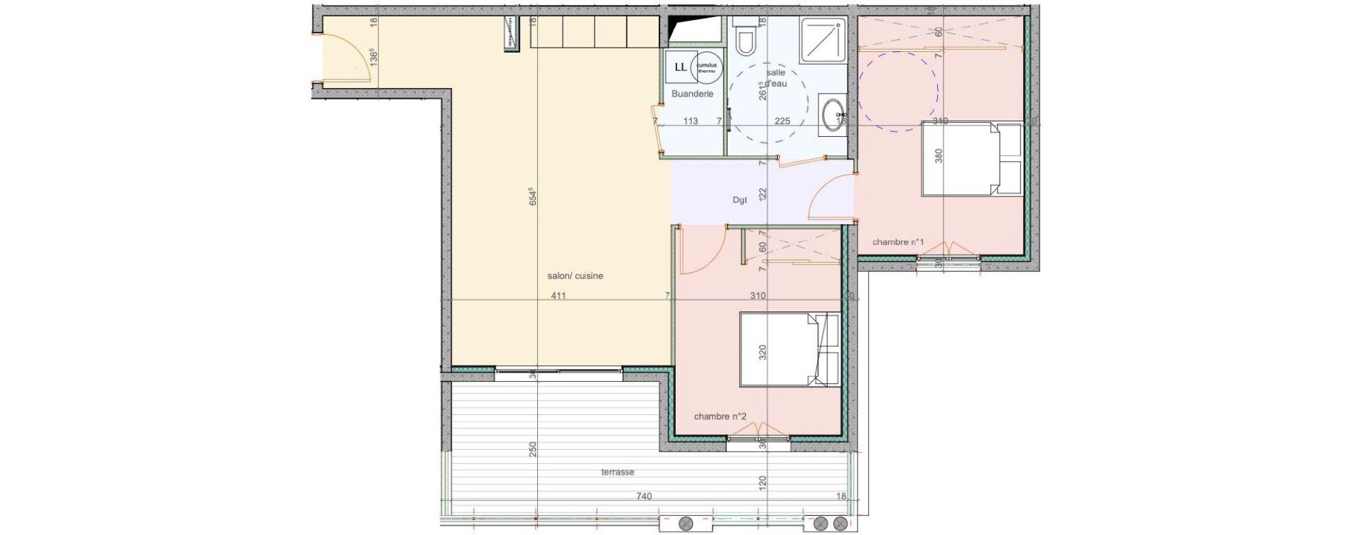 Appartement T3 de 67,80 m2 à Lucciana Centre