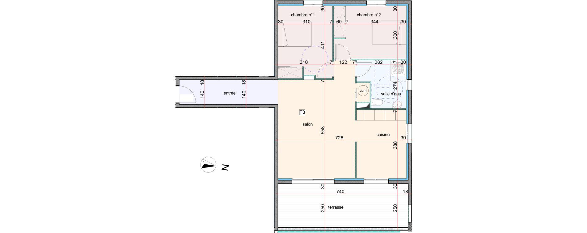 Appartement T3 de 77,20 m2 à Penta-Di-Casinca Centre