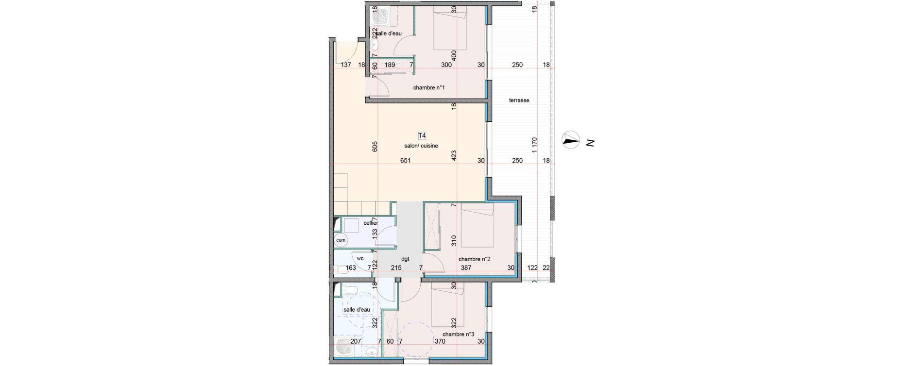 Appartement T4 de 95,50 m2 à Penta-Di-Casinca Centre