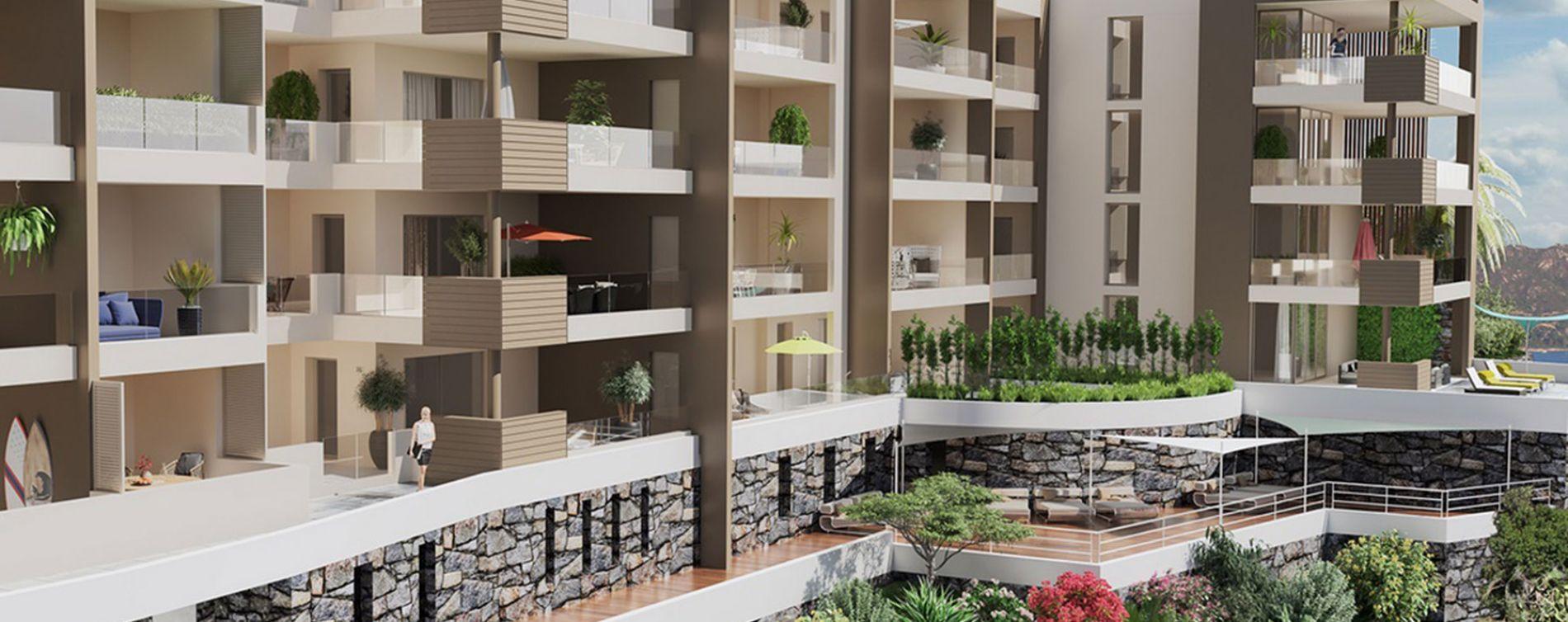 San-Martino-di-Lota : programme immobilier neuve « PietraMare » en Loi Pinel (2)