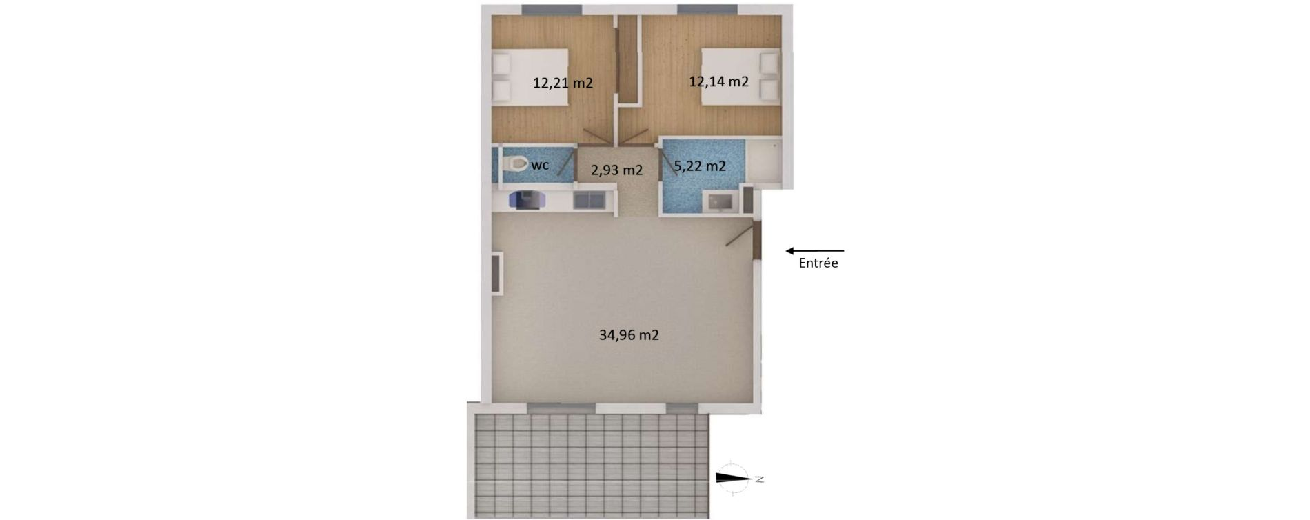Appartement T3 de 69,30 m2 à San-Martino-Di-Lota Centre