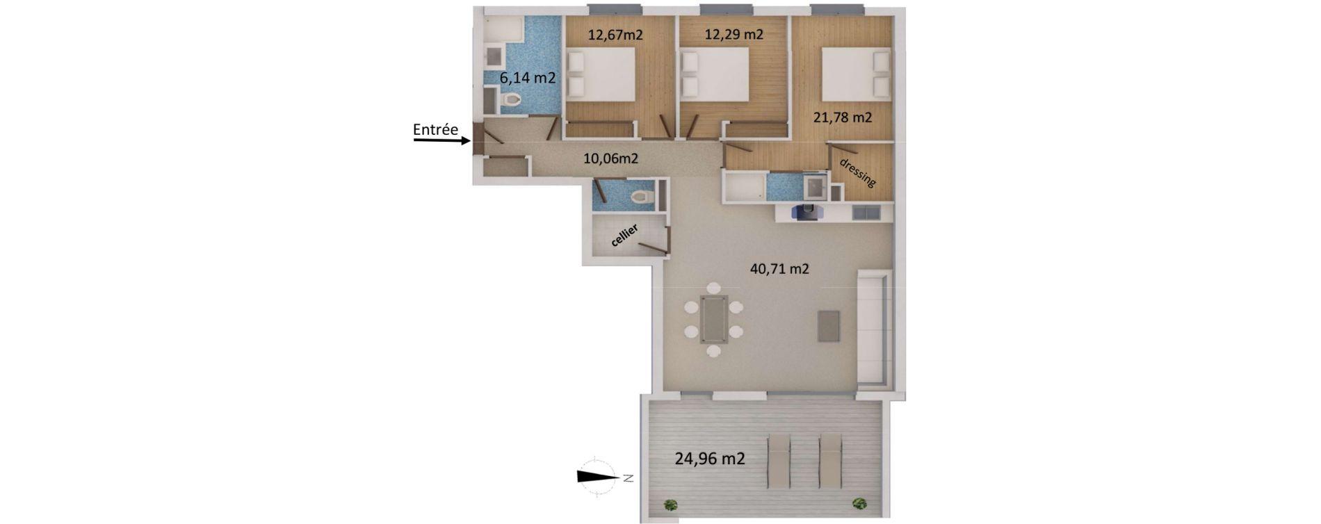 Appartement T4 de 108,32 m2 à San-Martino-Di-Lota Centre