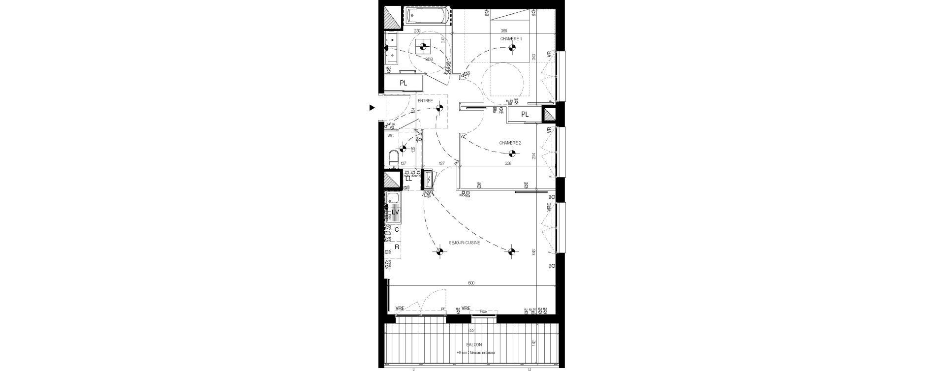 Appartement T3 de 64,05 m2 à Lingolsheim Les tanneries