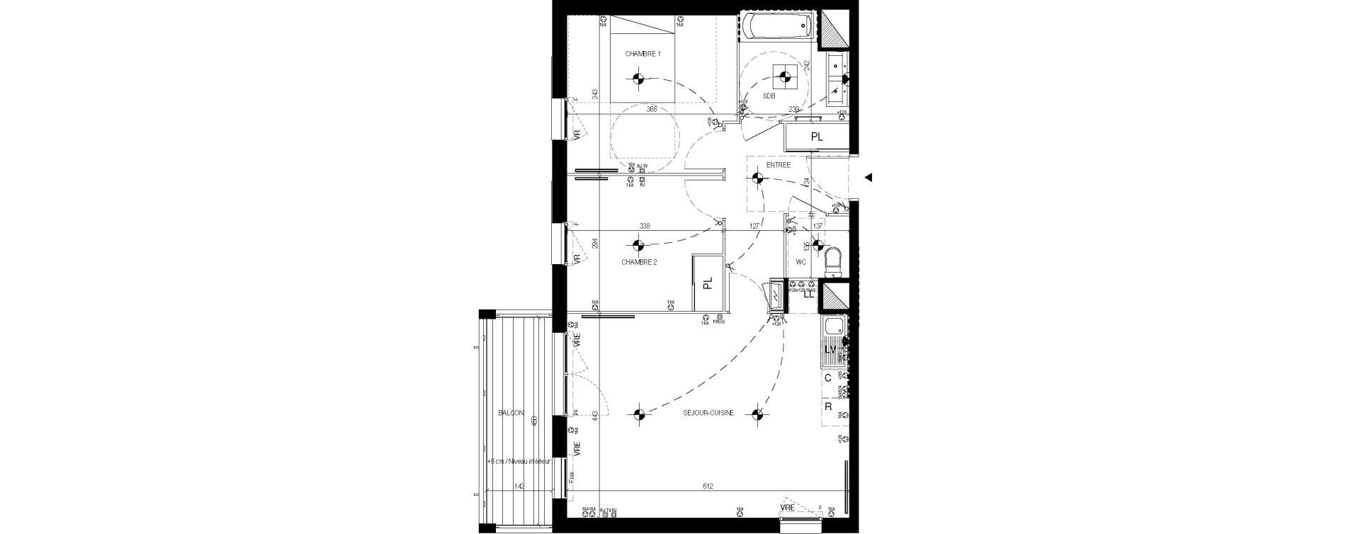 Appartement T3 de 64,50 m2 à Lingolsheim Les tanneries
