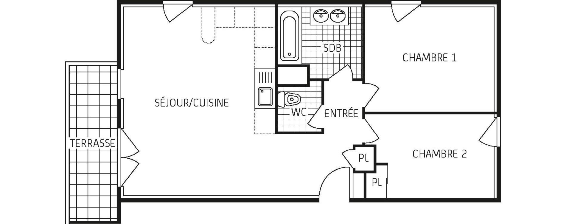 Appartement T3 de 61,80 m2 à Lingolsheim Les tanneries