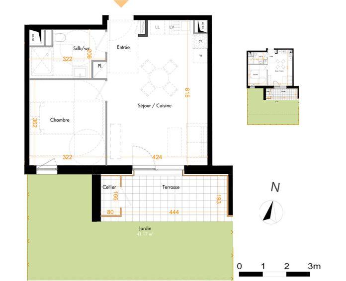 Plan T2 neuf à Mundolsheim de