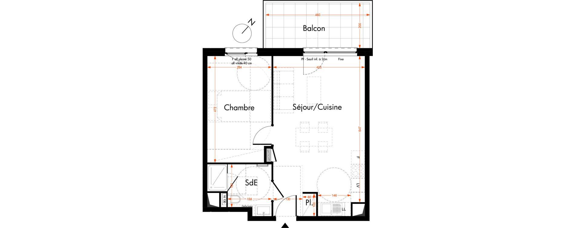 Appartement T2 de 46,40 m2 à Oberhausbergen Centre