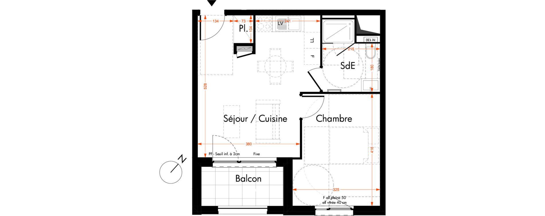 Appartement T2 de 39,50 m2 à Oberhausbergen Centre
