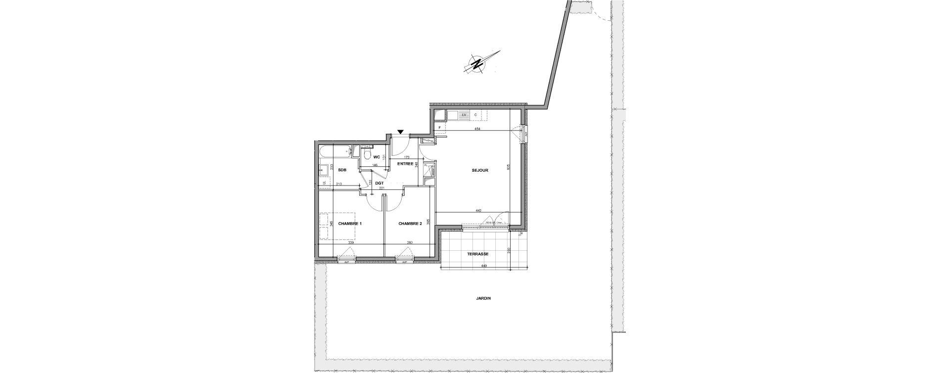 Appartement T3 de 60,69 m2 à Oberhausbergen Centre