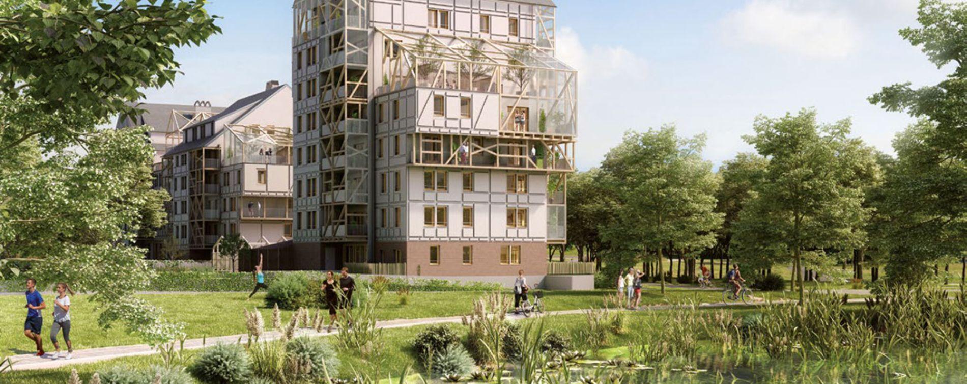 Ostwald : programme immobilier neuve « Polaris 2 » en Loi Pinel
