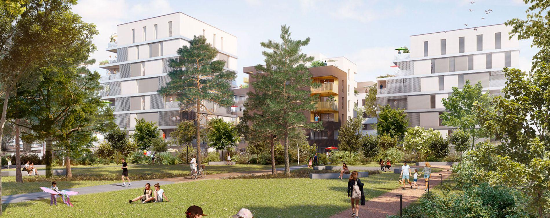 Schiltigheim : programme immobilier neuve « Follement Schilick Bât. H » en Loi Pinel (2)