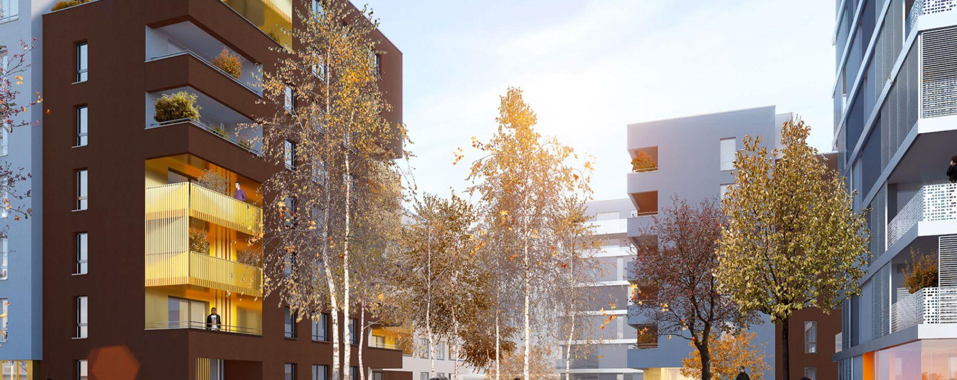 Schiltigheim : programme immobilier neuve « Follement Schilick Bât. H » en Loi Pinel (3)